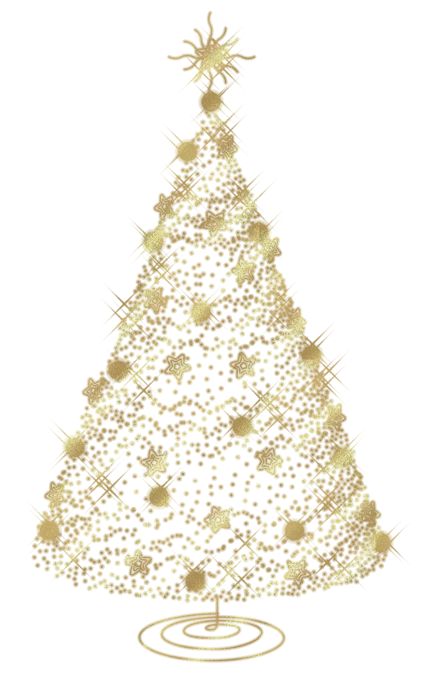 Gold clipart xmas. Christmas tree transparent png