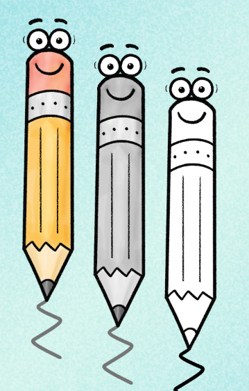Paper and pencil math. Clipart writing let's do it