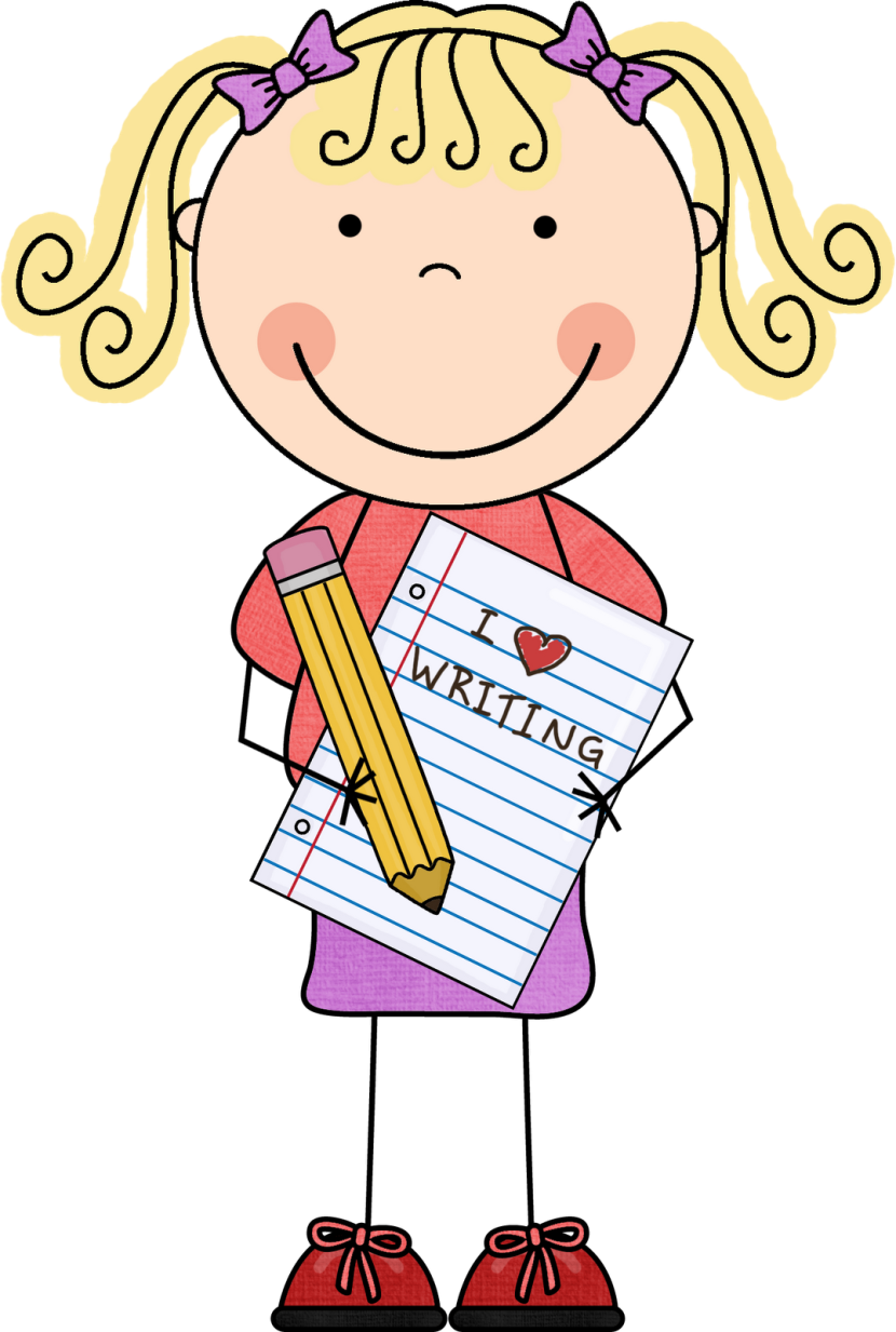 Interactive writing. Writer clipart