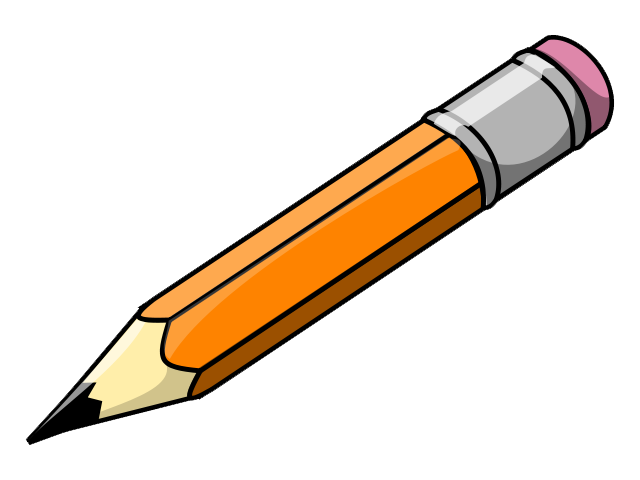Pencil clipart write. Writing letters format clip