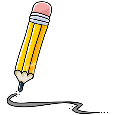 Writing clip art free. Pencil clipart write