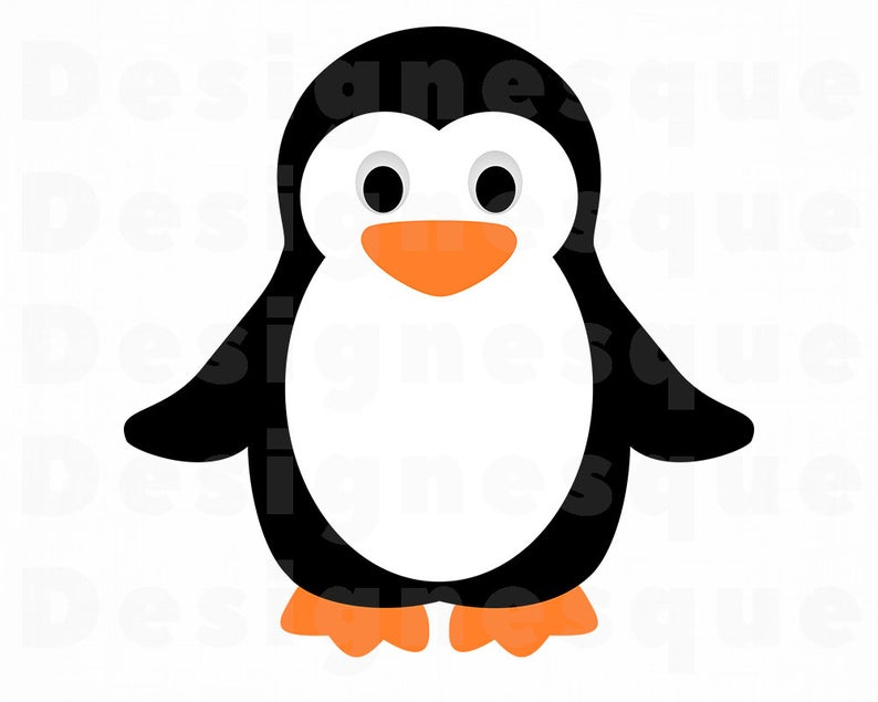 Penguin svg files for. Clipart penquin
