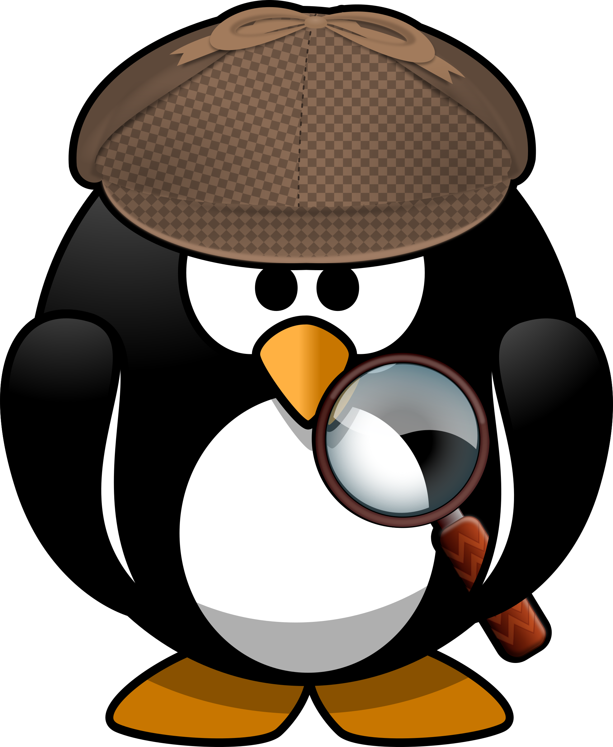 Detective clipart interview. Sleuth penguin big image
