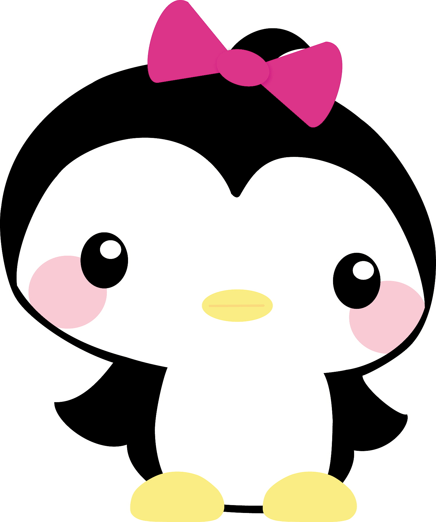 Clipart penquin baby girl. Penguin panda free images