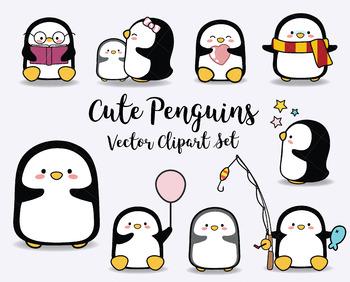 Penguin cute penguins baby. Clipart penquin kawaii