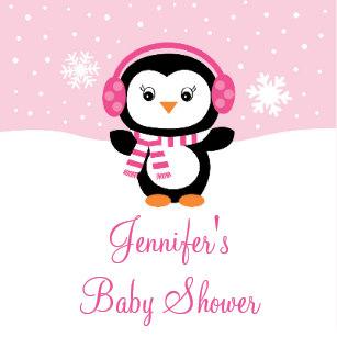 Clipart penguin baby shower. Napkins zazzle