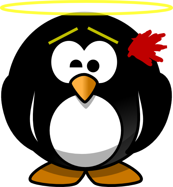 Innocent being shot clip. Clipart penguin brown