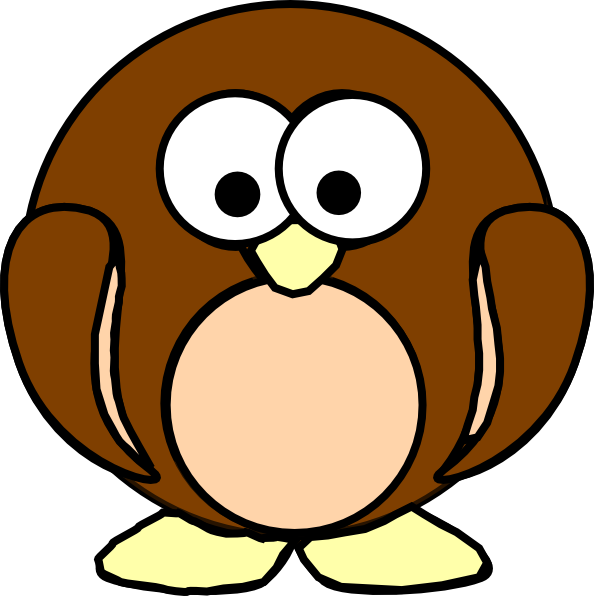Clipart penguin brown. Clip art at clker