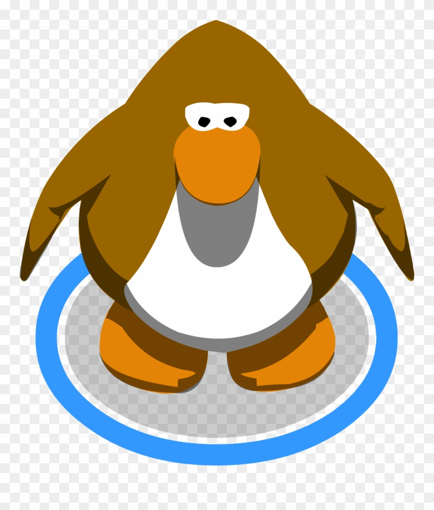 Clipart penguin brown. Standing club old blue