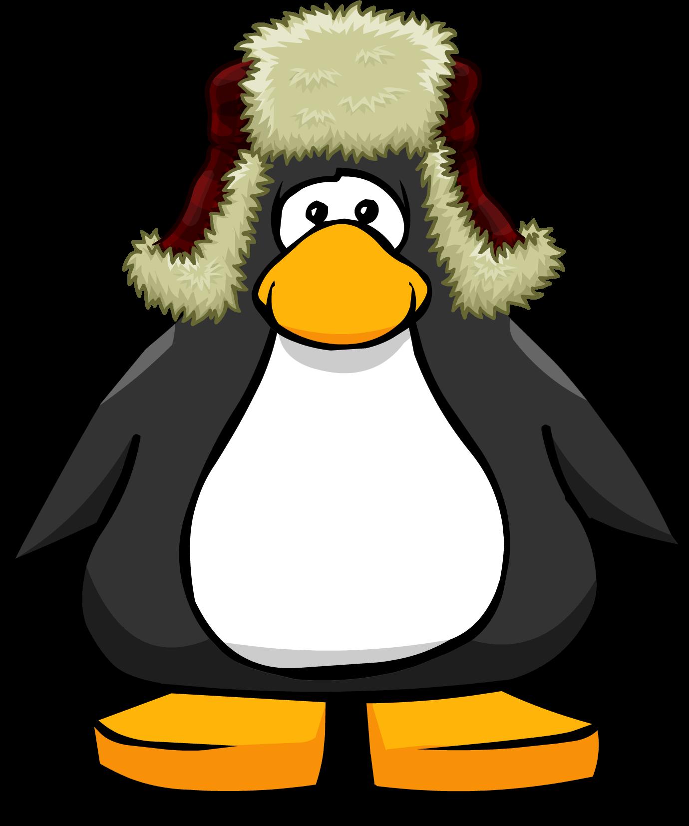 Clipart penguin chilly. Image trek hat from