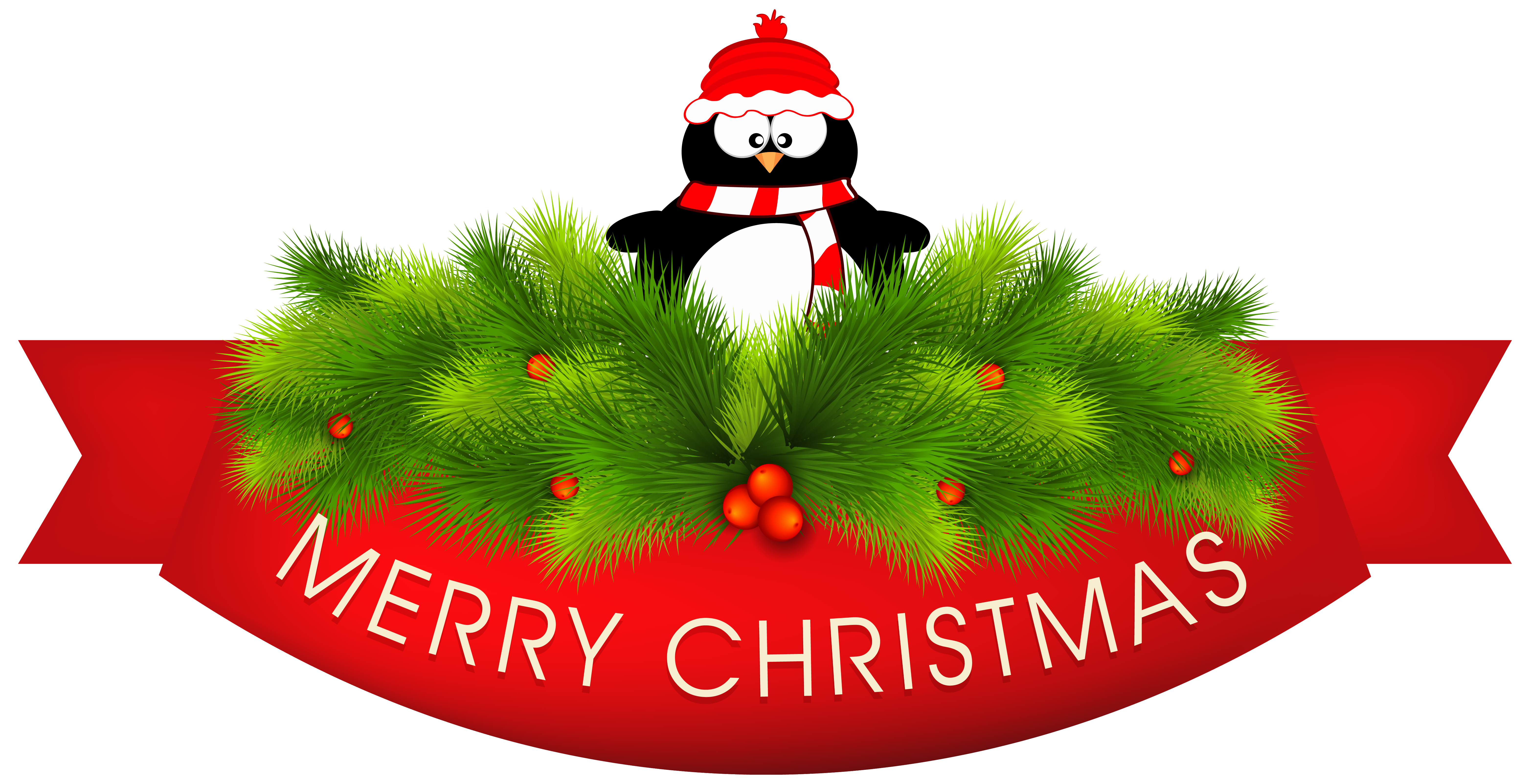 Decor with penguin png. Clipart penquin merry christmas