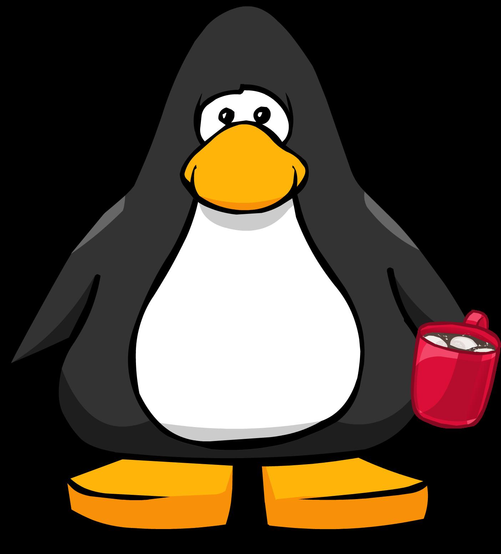 Clipart penquin boy. Hot chocolate penguin pencil