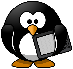 Clipart penguin computer. Ebook devices png html