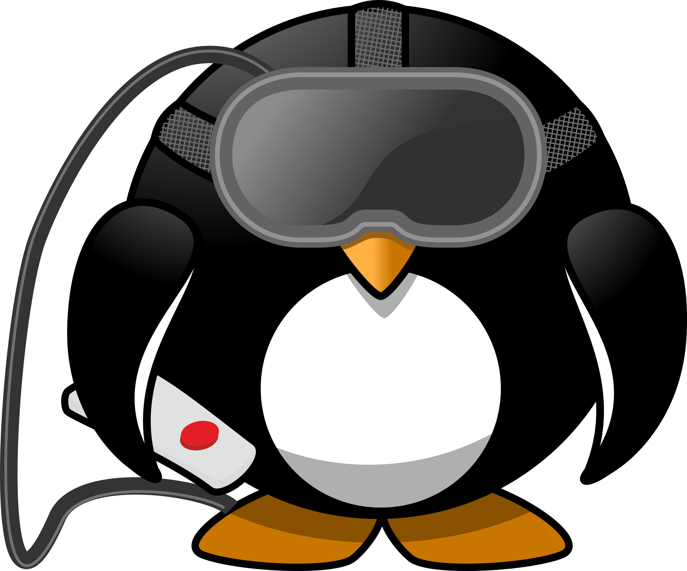 Virtual reality big image. Clipart penguin computer