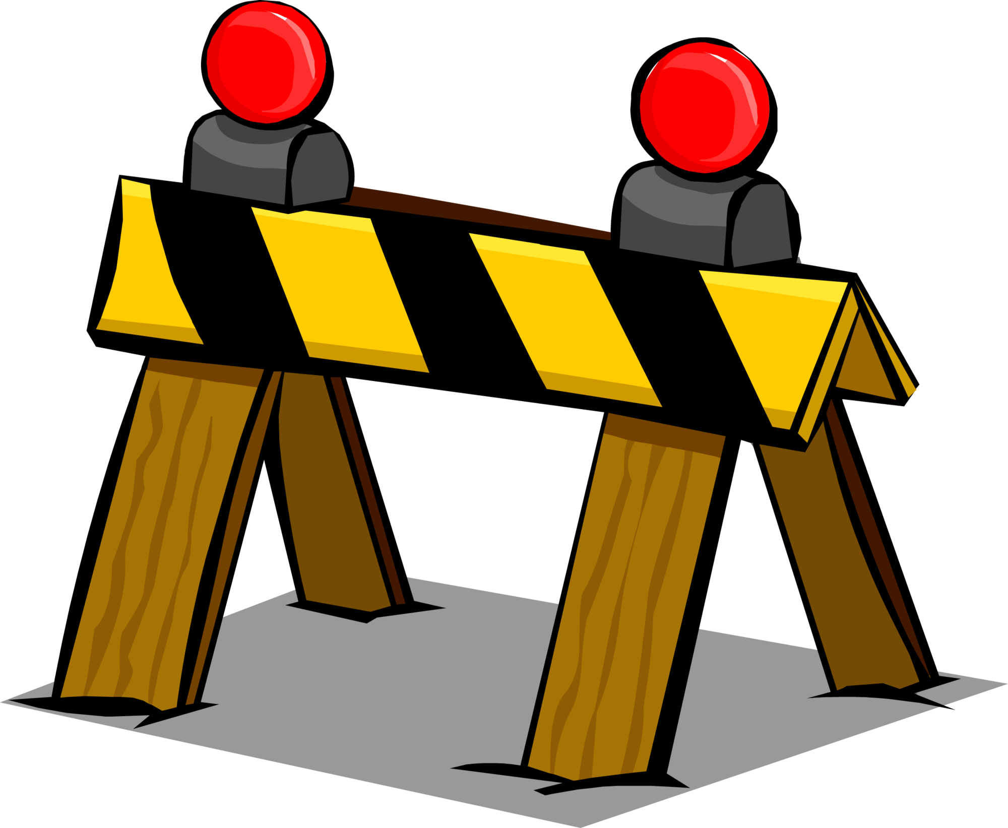 Construction clipart barrier. Club penguin wiki fandom