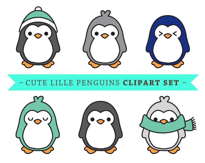 Premium vector clip art. Clipart penguin cute penguin