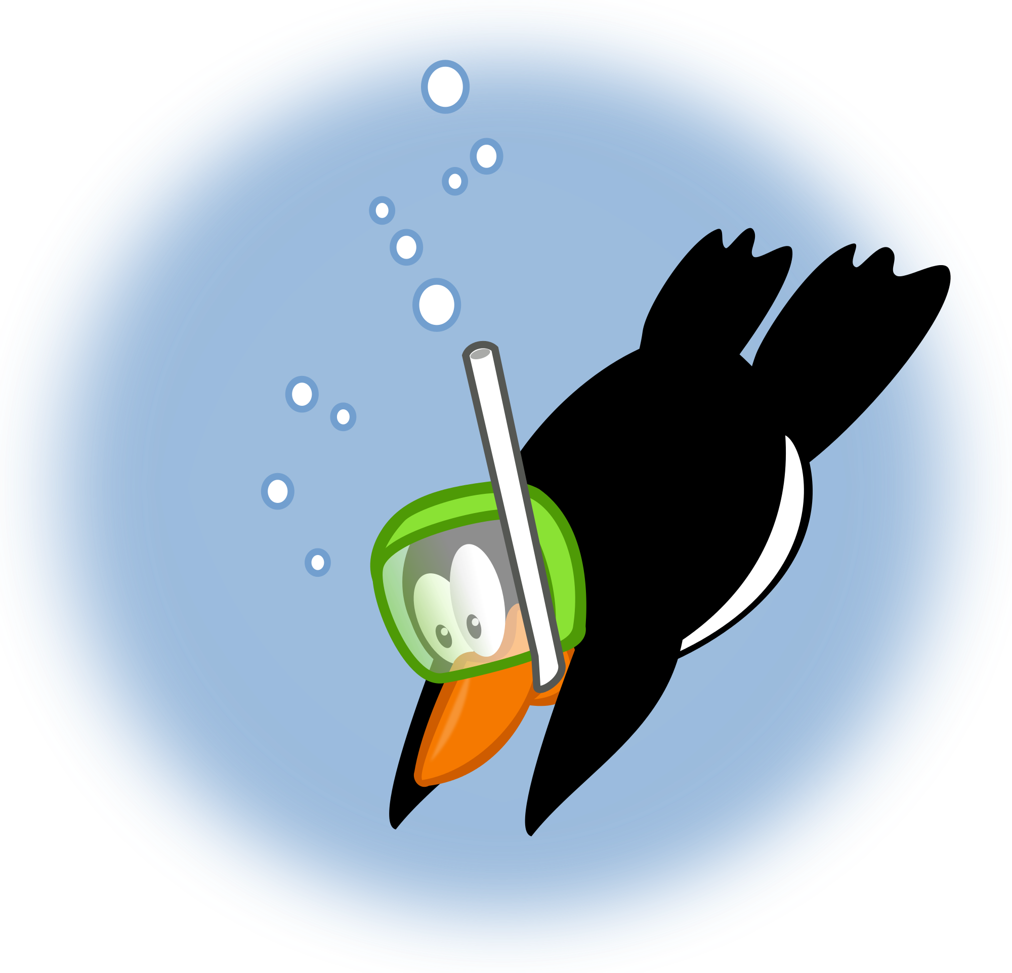 Clipart penguin diving. File by mimooh svg