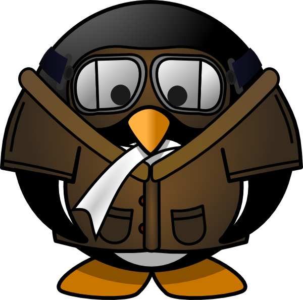 Penguin clip art at. Pilot clipart scarf