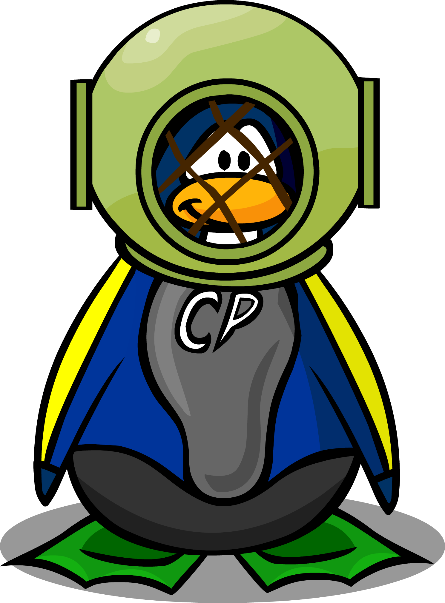 Image burnt out bulbs. Clipart penguin diving