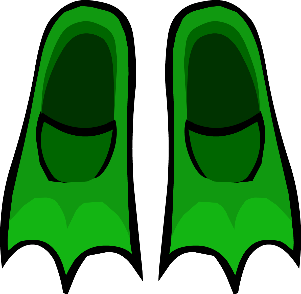 Green flippers club rewritten. Clipart penquin penguin flipper