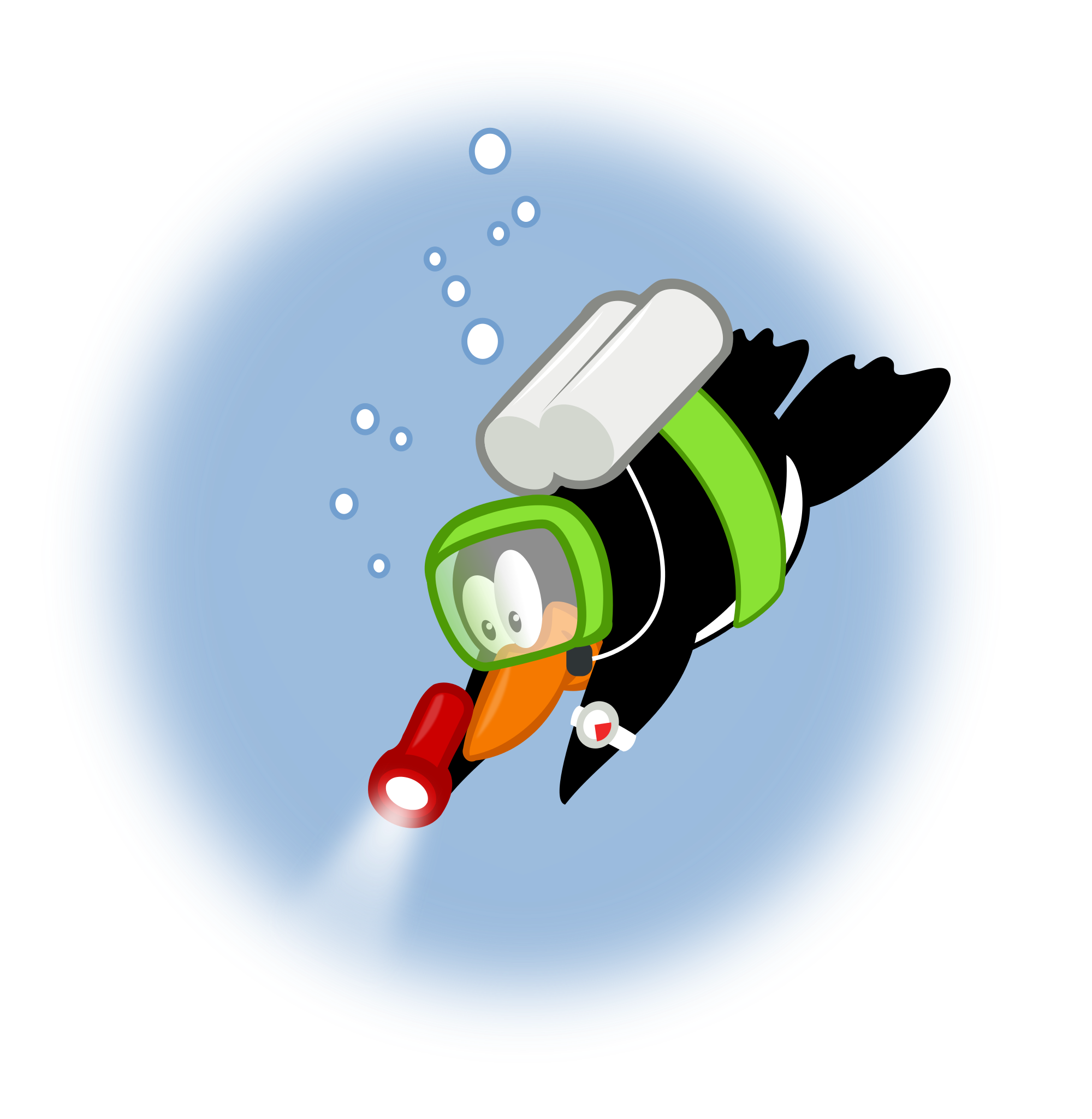 File by mimooh svg. Clipart penguin diving