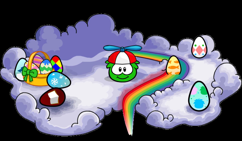 Image egg cloud png. Clipart penquin easter