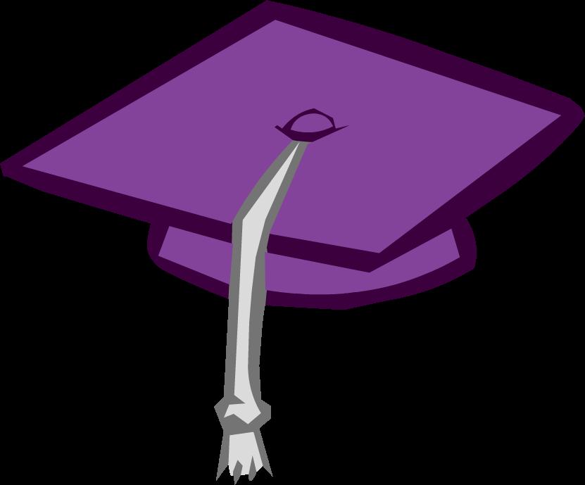 Image purple cap png. Clipart penguin graduation