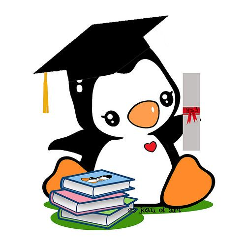 Clipart penguin graduation. Popo s flickr photo