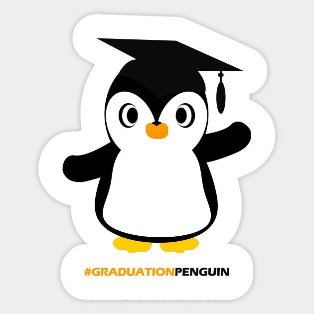 . Clipart penguin graduation