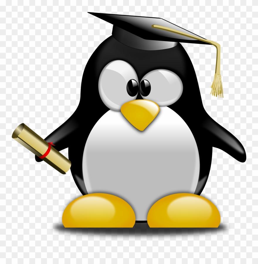 Clipart penguin graduation. Ceremony tuxedo graduate university