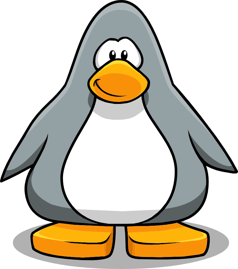 Image png club wiki. Clipart penguin grey