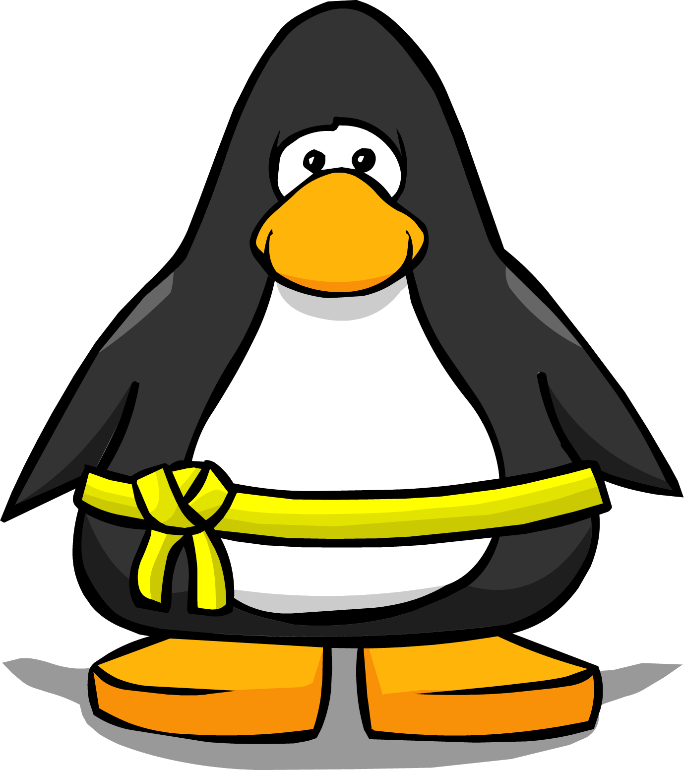 Image yellow belt from. Clipart penguin grey