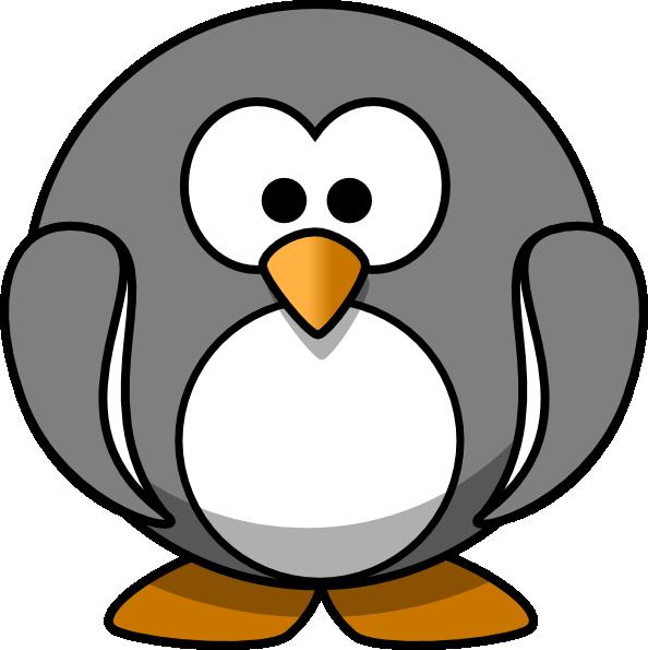 penguin clipart grey