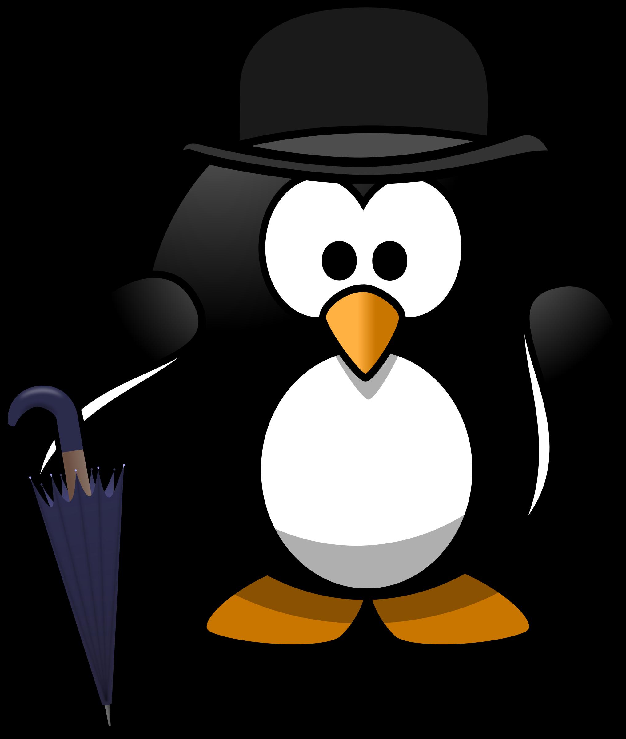 Clipart penguin hat. Gentleman big image png