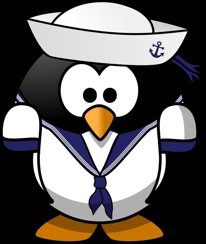 Sailor penguin medium image. Navy clipart salior