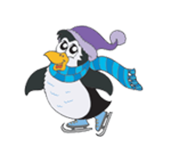 Public session . Clipart penguin ice skating