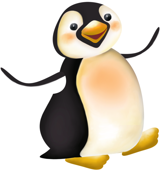 Clipart penquin illustration. Large penguin cartoon png