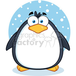 Royalty free rf cute. Clipart penquin illustration