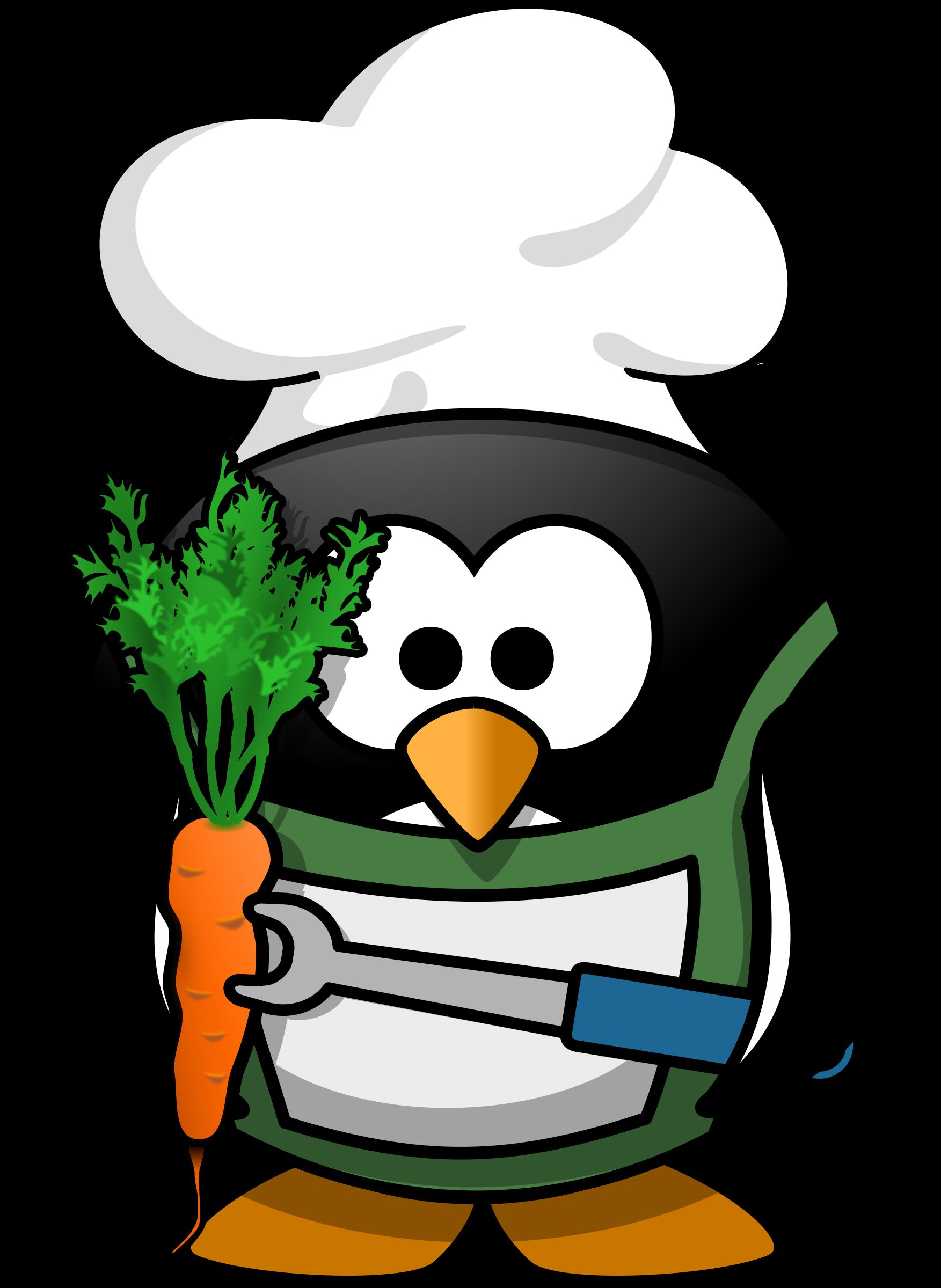 Clipart penquin illustration. Veggie penguin big image