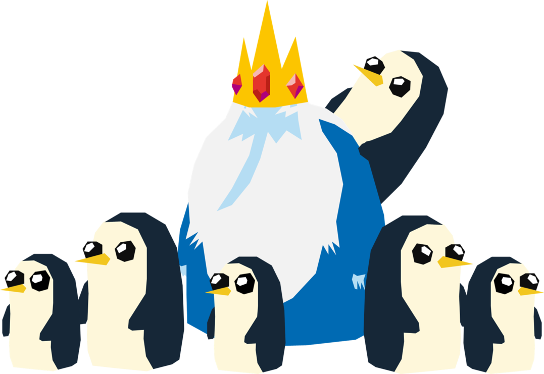 Adventure time the ice. Clipart penguin king penguin