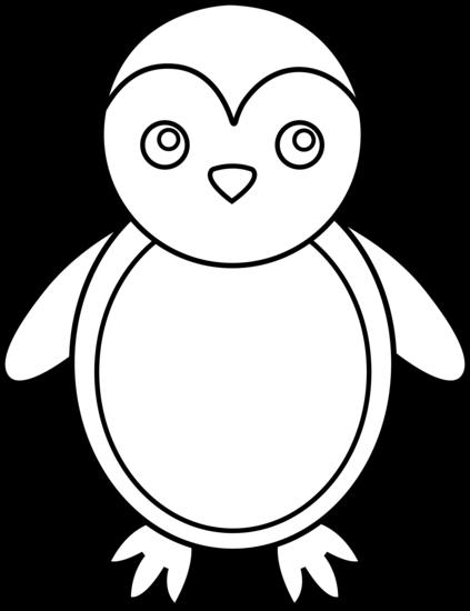 Clipart penguin line. Art free clip