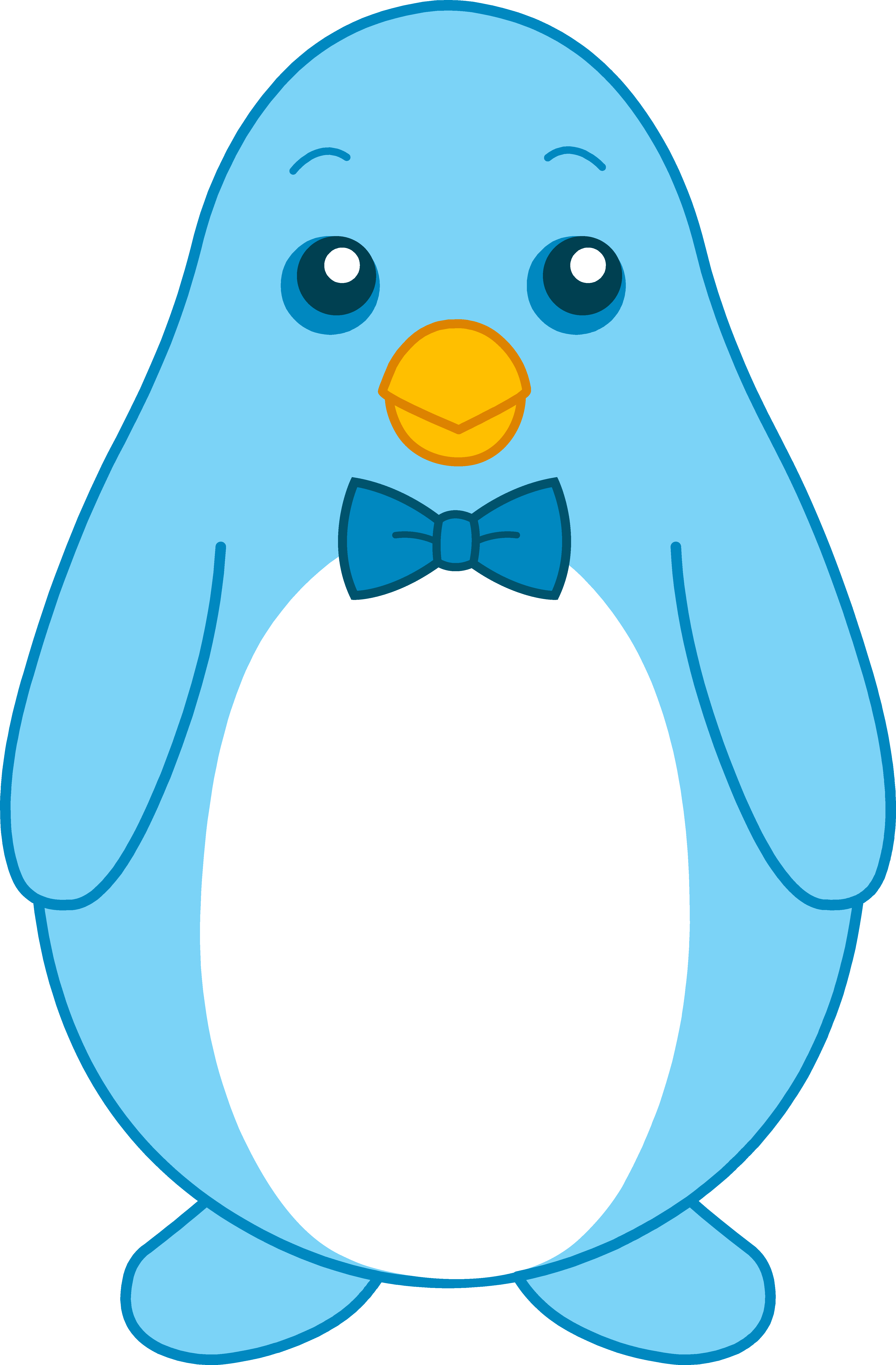 Little blue penguin with. Clipart penquin colored