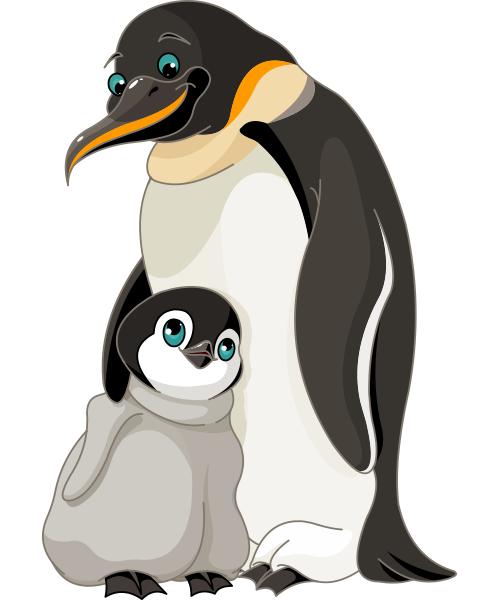 Clipart penguin penguin family. Love animal icons penguins