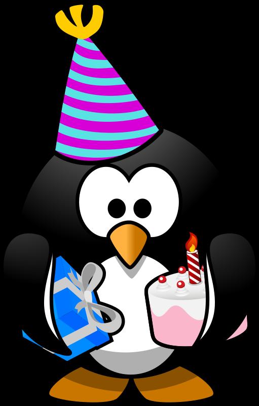 Party penguin medium image. Penguins clipart winter