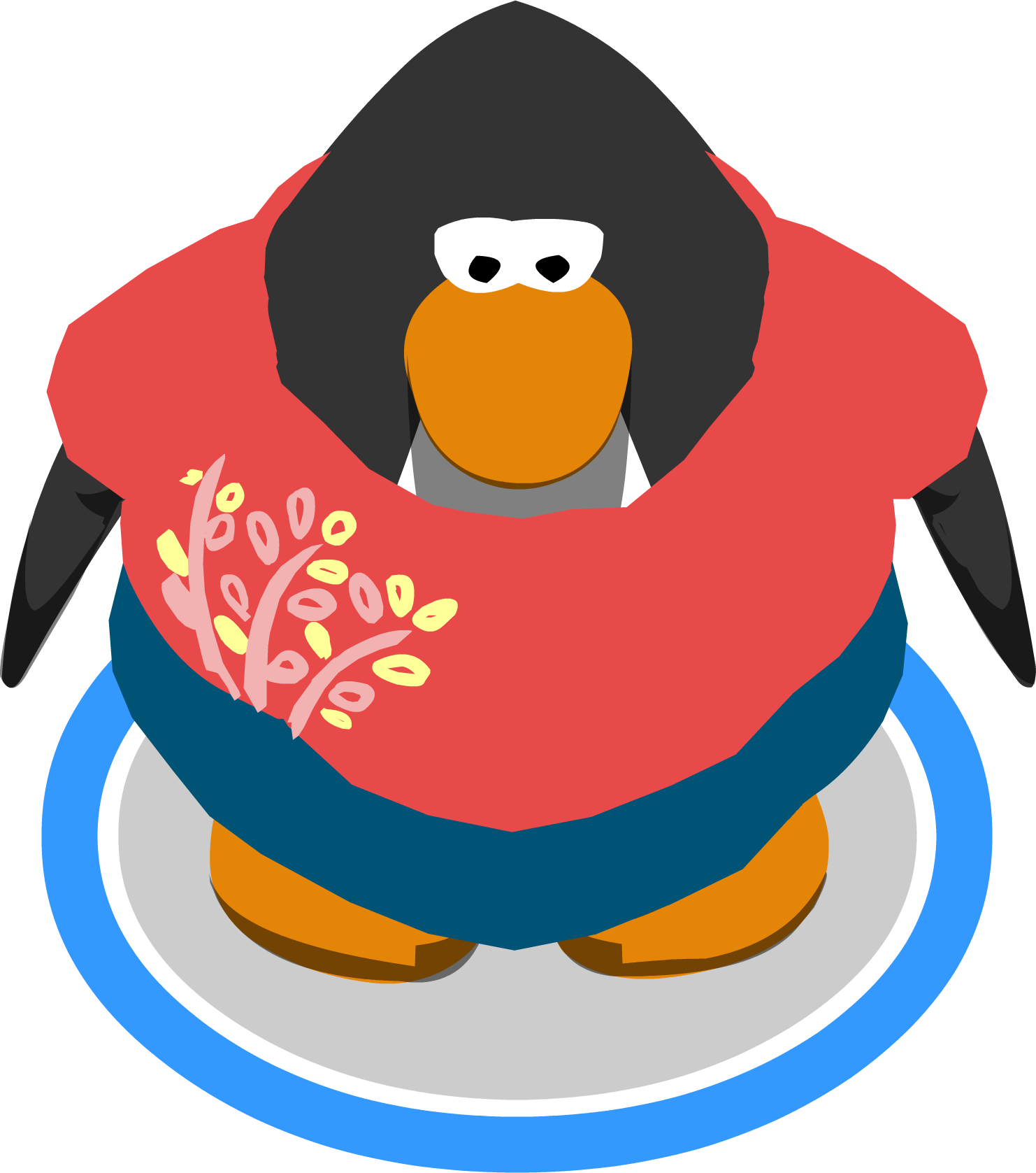 Image pink tunic and. Clipart penguin rustic
