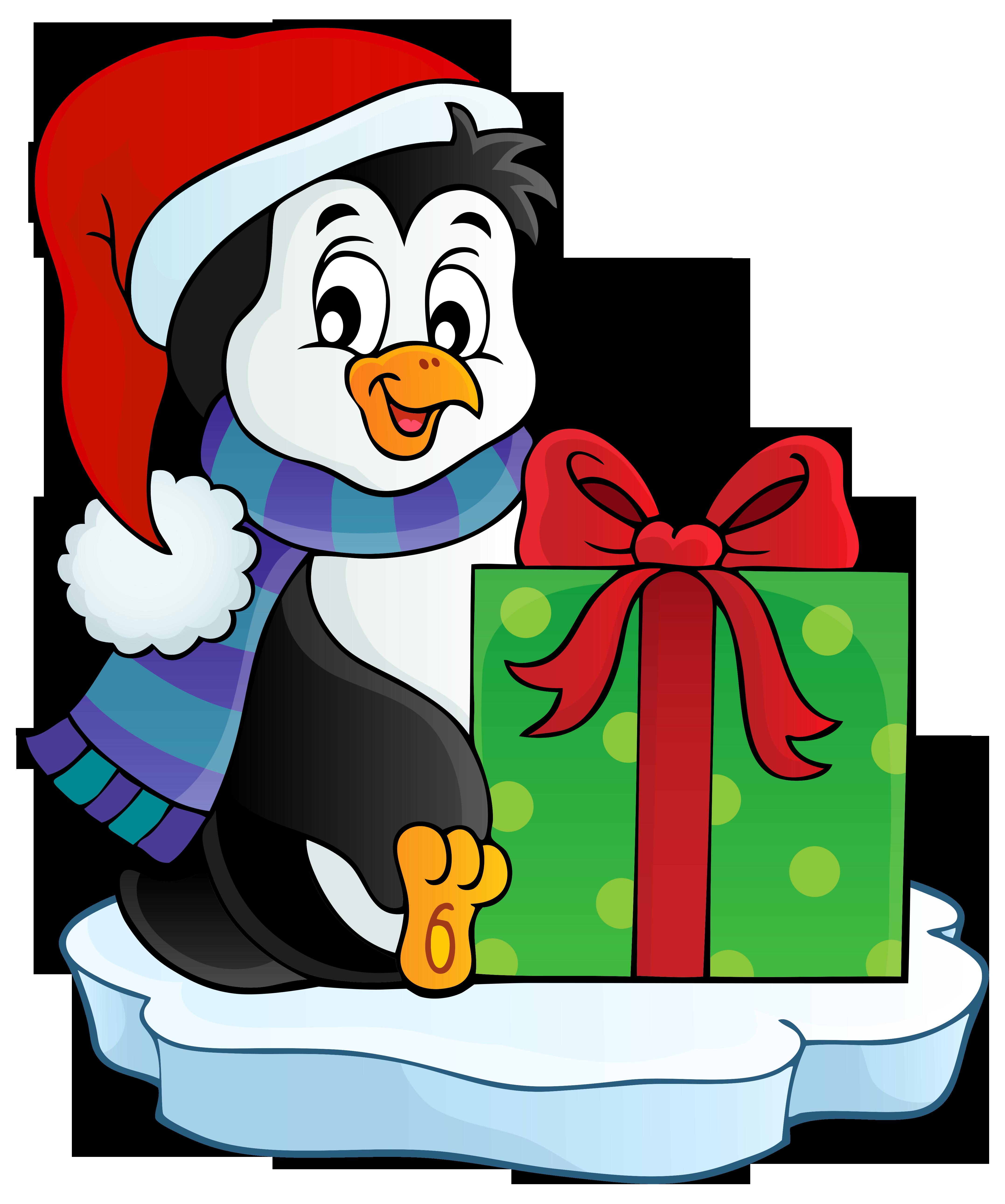 Clipart penguin rustic. Christmas transparent png clip