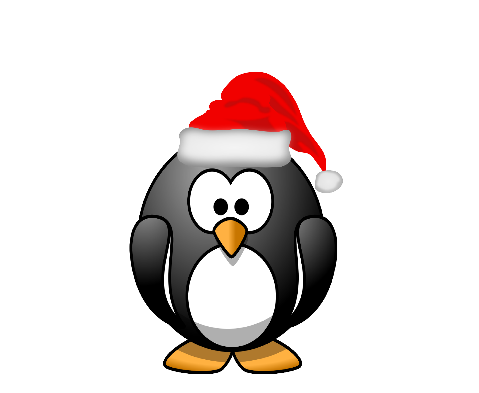 collection of christmas. Clipart penquin border