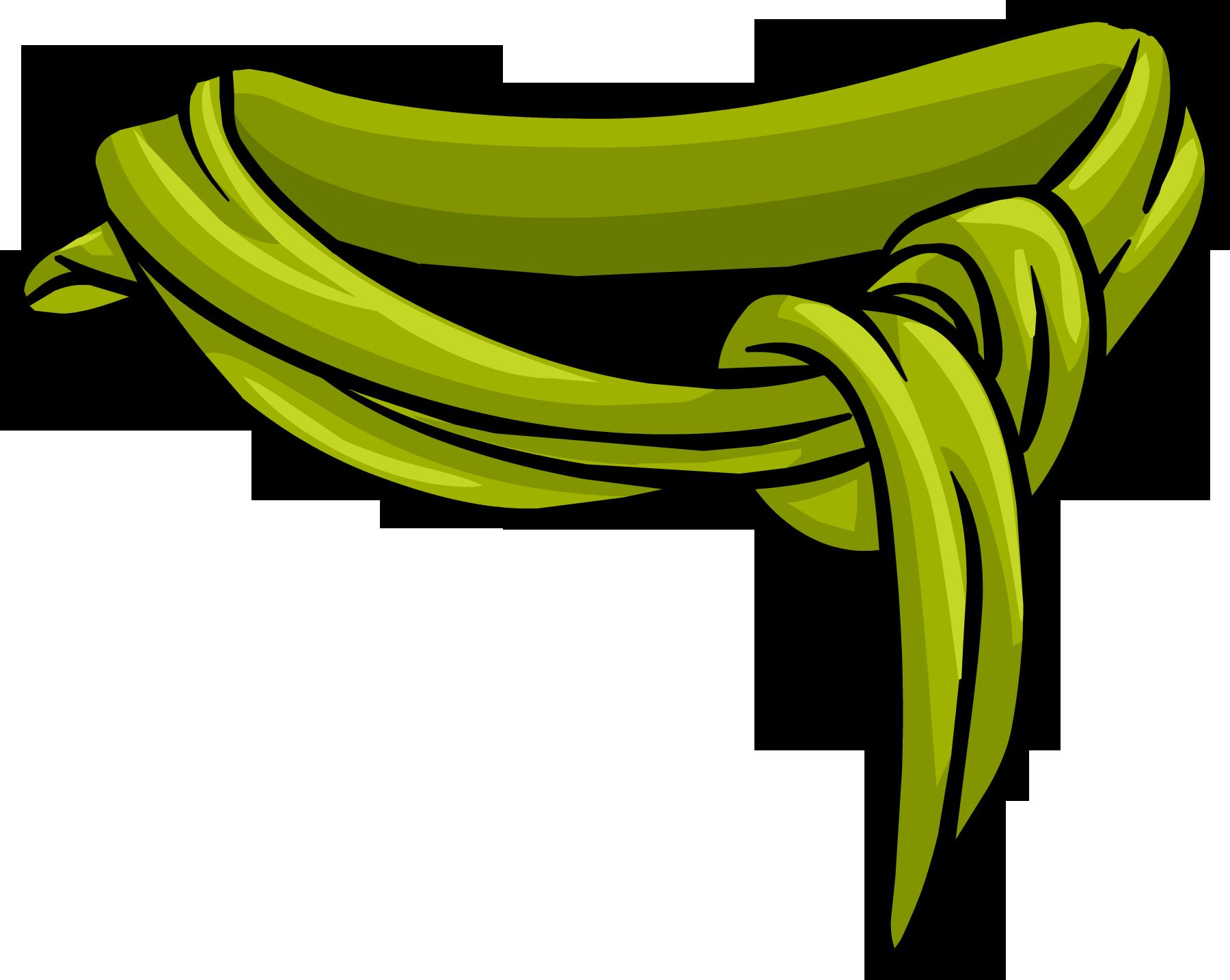 Cotton clipart coton. Green scarf club penguin