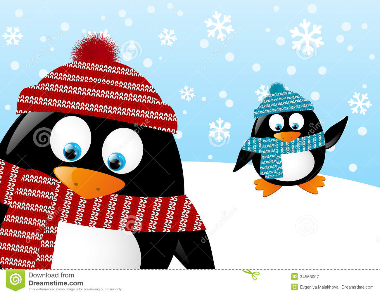Clipart penguin scene. Black and white free