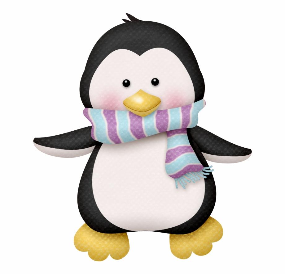 Clipart penguin scene. Winter clip art cute